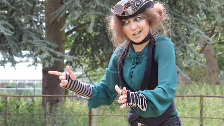 Hayley Evenett as Puck in Stuff of Dreams touring production of A Midsummer Night's Dreamt Photo: St