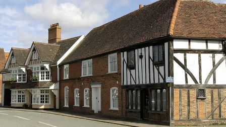 Bures village centre, parts of whcih are a conservation area Photograph: KEITH MINDHAM