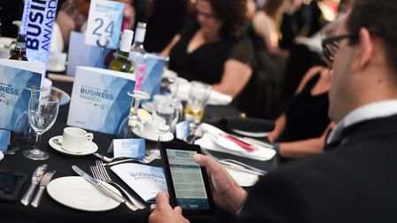 Follow our live coverage of the Suffolk Business Awards 2019. Picture: SARAH LUCY BROWN