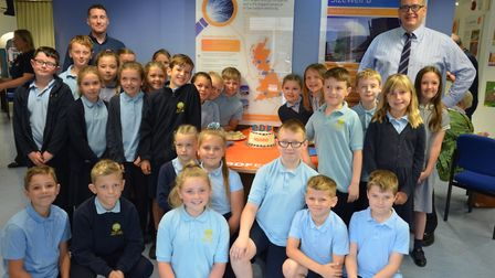 Pupils from Woods Loke Primary School in Lowestoft marked the milestone with cake and a tour of the