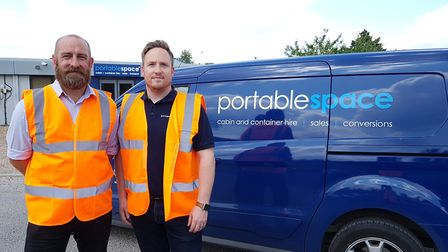 MD Mark Dolman and Sales Manager Dave Stephenson of Portable Space Picture: RACHEL EDGE