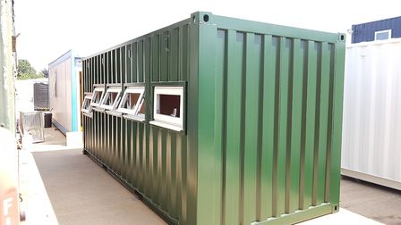 Portable Space are adapting this shipping container into a bird viewing room for a bird sanctuary. P