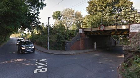 The well known corner between the B1078 and Lion Lane where the roadworks will take place. Picture: