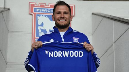 Ipswich Town have completed the signing of James Norwood. Picture: ITFC