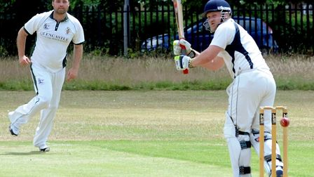 Ipswich batsman, Mark Burch, who made 30 in the nail-biting one-wicket win over Hadleigh. Picture: A