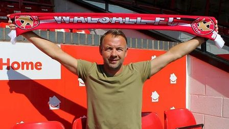 Marcus Stewart is the new assistant manager of Walsall. Picture: WALSALLFC/TWITTER