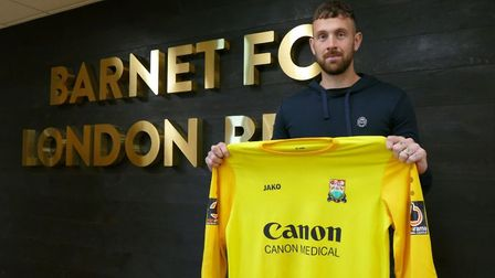 Scott Loach has signed for National League side Barnet. Picture: BARNETFC/TWITTER