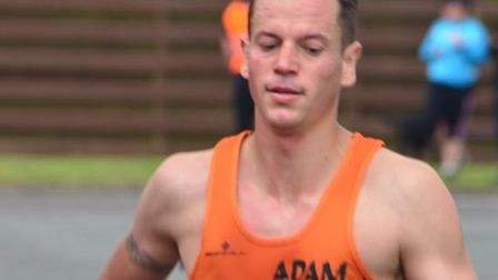 Adam Wade, approaches the finish of the Capel 5, in second spot. Picture: KEITH BORRETT