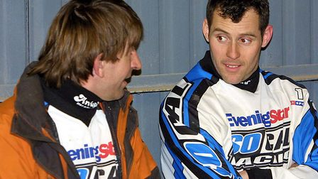Local boys made good for Witches. Jeremy Doncaster & Chris Louis. Picture STEPHEN WALLER.