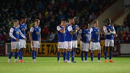 Ipswich Town were knocked out of the League Cup at Exeter City last season. Picture Pagepix