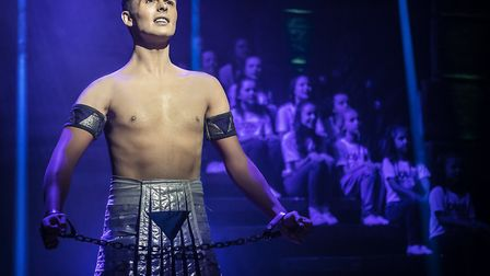 Jaymi Hensley as Joseph in Joseph & The Amazing Technicolor Dreamcoat which is being staged at the I