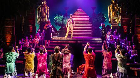 The Cast of Joseph & The Amazing Technicolor Dreamcoat which is being staged at the Ipswich Regent -