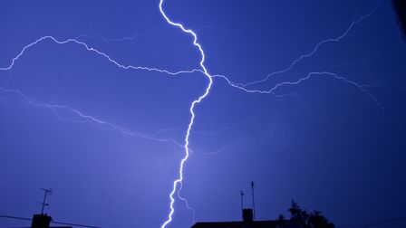 Lightning storms to return to Suffolk before summer weather takes hold later on in the week. Picture