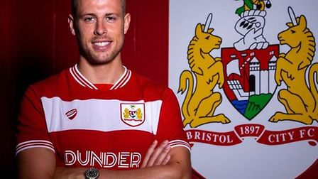 Adam Webster left Ipswich Town to join Bristol City on a four-year deal last summer. Picture: BRISTO