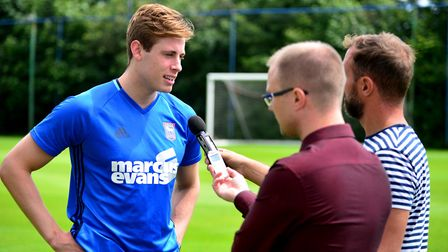 Webster joined the Blues in the summer of 2016. Picture: ARCHANT