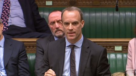 Former Brexit secretary Dominic Raab has been knocked out of the Tory leadership race Picture: HOUSE