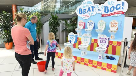 Spring's 'fun fair' Anglian Water consultation included a 'beat the bog' attraction, based on a trad