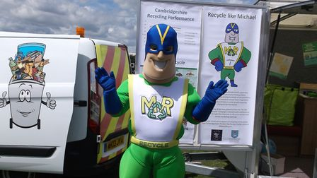 Michael Recycle  East Cambridgeshire District Councils recycling champion, created by Prominent PR