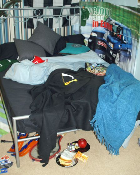 Abel Homes' teenager's bedroom Picture: ANDY NEWMAN