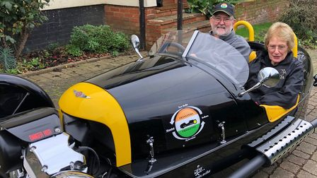 Alan and Pat Braithwaite are to drive 3,500 miles across India in a Morgan three-wheeler Picture: RE