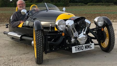 The colours of the Morgan are in memory of Alan's father Picture: REPUBLICA MEDIA