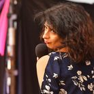 Shappi Khorsandi on the Comedy stage at Latitude 2018. Shappi talks of her love for stand-up in her