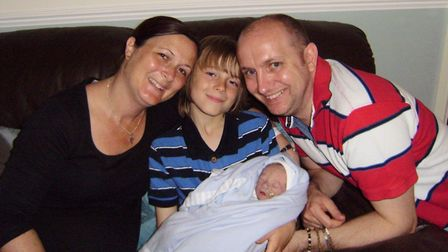 The Markham family from Kesgrave in 2012 Picture: SUPPLIED BY FAMILY/EACH