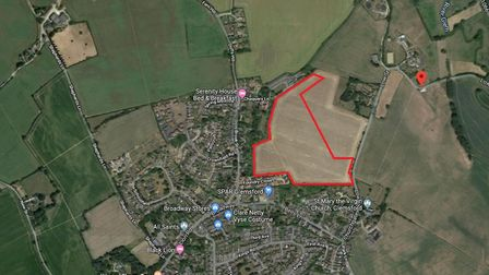 The land to the west of Low Street in Glemsford where a planning application was submitted for 101 h