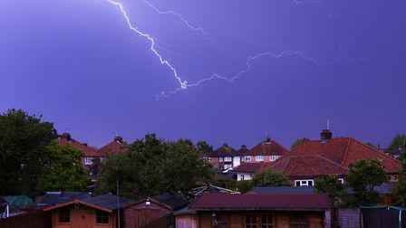 Ipswich was hit by a number of lightning strikes. Picture: PAUL CHAPMAN
