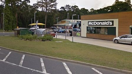 Zachariah Almeida made a trip to the Barton Mills branch of McDonald's Picture: GOOGLE