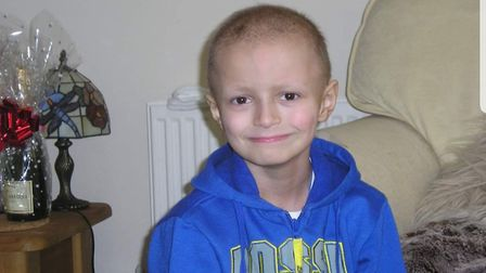 At just five years old Charlie was diagnosed with medulloblastoma Picture: CANCER RESEARCH UK