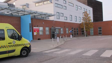 The patient was taken to Colchester Hospital Picture: COLCHESTER HOSPITAL UNIVERSITY NHS FOUDATION T