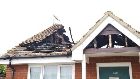 Bungalow struck by lightning in Shotley Picture: RACHEL EDGE