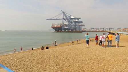 Felixstowe Docks from the View Point cafe Picture: JANICE POULSON
