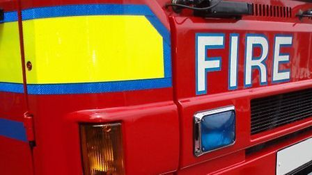 Four fire crews worked to tackle the blaze in Norman Way, St Osyth Picture: PHIL KING