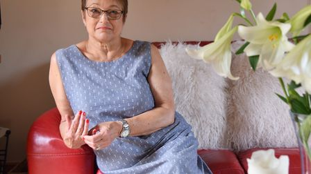 Yvonne Dunham lived with sudden adult death syndrome before having a heart transplant last year Pict
