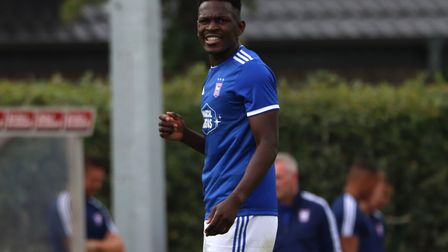 Toto Nsiala tore his hamstring in Meppen. Picture: ROSS HALLS
