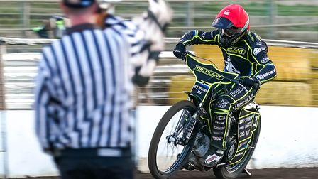 Danny King led the Ipswich Witches with 13 points in their 48-42 defeat at Poole. Picture: STEVE WAL