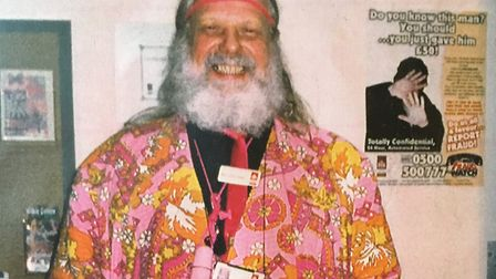 The suit in which he was buried. This is Tuffy Turner in 1997, when working at Ipswich Borough Counc