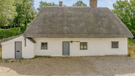 Stackwood Cottage has a newly refurbished thatched roof. Picture CHRIS POPE