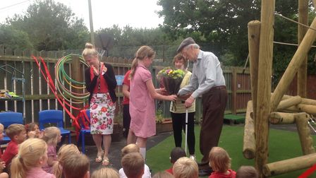 Kersey Primary School has unveiled a new early years outdoor play area. Picture: KERSEY PRIMARY SCHO