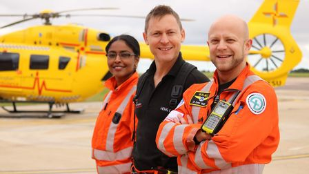 The East Anglian Air Ambulance crew rely entirely on public donations to carry out their life-saving