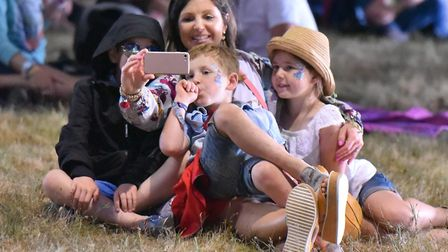 Fans watching Jonathan Wilson at the BBC Sounds Stage Picture: JAMIE HONEYWOOD