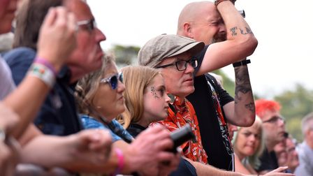 Fans watching Anna Calvi at the Obelisk Arena Picture: JAMIE HONEYWOOD