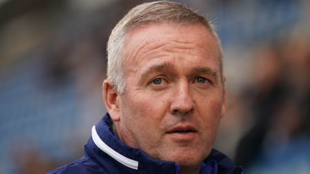 Town manager Paul Lambert looks on during the Colchester United v Ipswich Town (Pre season friendly)