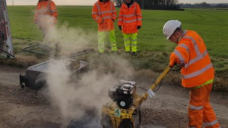 Suffolk County Council has already invested in thermal pothole repair equipment. Picture: SUFFOLK HI