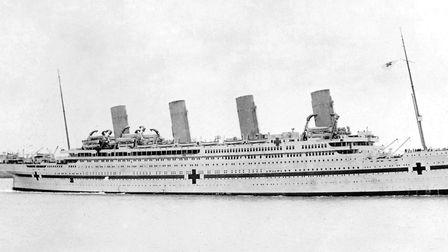 Hospital ship Britannic during the First World War. Violet Jessop served on it Picture: Allan Green