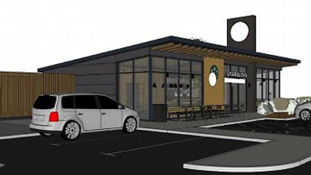 The development could include a new Starbucks Picture: EURO GARAGES/CAMPBELL DRIVER PARTNERSHIP ARCH