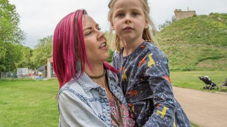Indie-Rose Clarry with mum Tannine Montgomery Picture: GILES BRYANT