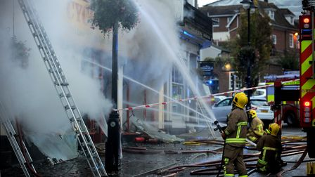 More than 60 firefighters fouight the blaze at its height Picture: ANDY ABBOTT